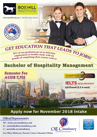 Box Hill Institute Hospitality Management