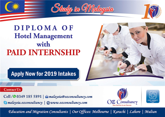 Diploma In Hotel Management With Paid Internship Malaysia